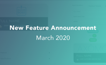 March 2020 AXOMO Updates
