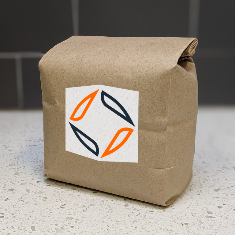 how the company's logo might look on a bag